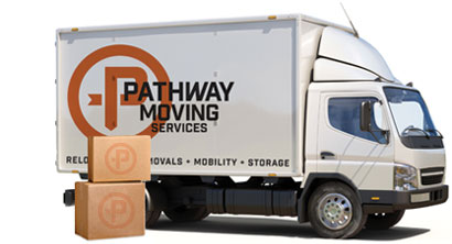 Pathway Moving Services white moving truck
