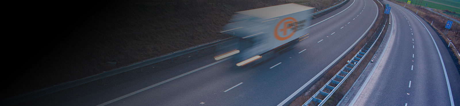 Home Slider – truck on highway